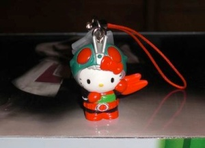 Hello Kitty Kamen Rider Phone Strap